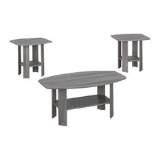 3-Piece Table Set, Gray Sonoma Oak