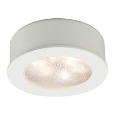WAC Lighting LED Button Light, White, Round, 3000k Soft White