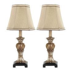 Gabriella Mini Decorative Urn Lamps, Gold, Set of 2
