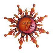 "Airbrushed Sun Face 22"" Mexico"