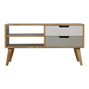 Nordic Style Media Unit With 2-Drawer