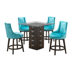 Lansdale 5 Piece Counter Height Kitchen Dining Set