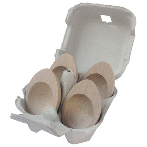 Wooden Egg Cups, Set of 4