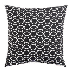Jaipur Living Titan Black/White Geometric Indoor/Outdoor Throw Pillow, 20""