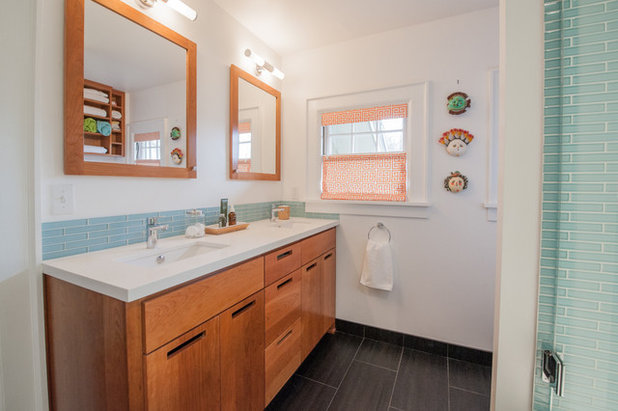 Stunning Transitional Bathroom by Encircle Design and Build