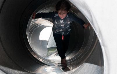 My Houzz: A Playground Designer Slips In a Slide at Home
