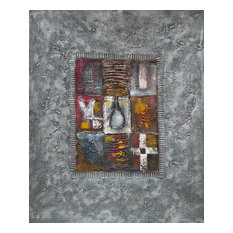 """Patchwork on the Stone Oil Painting, 36""""x24"""""""