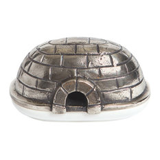 Igloo Butter Dish, Brushed Nickel