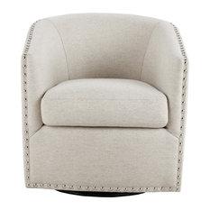Madison Park Tyler Swivel Chair, Natural Multi