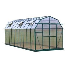 Elite Barn-Shaped Walk-In Greenhouse Kit, 8'x20', Concrete Anchor