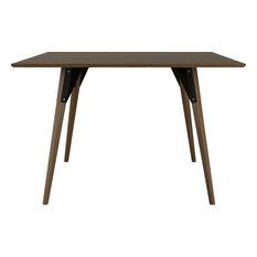 Clarke Square Table, Black, Large, Walnut