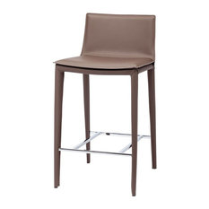 Palma Counter Stool, Mink Leather