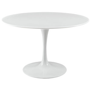 """Modern Contemporary Kitchen 47"""" Dining Table White"""