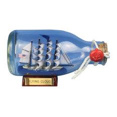 """Flying Cloud Model Ship in A Bottle, 5"""""""