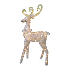 """60"""" Reindeer Decoration With Clear Lights"""