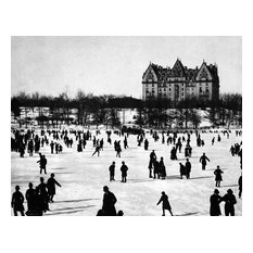 """Skaters on the Lake in Central Park, Circa 1890, 11""""x14"""""""