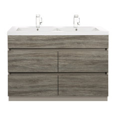 Southwester 48'' Contemporary Handless Vanity 4 Drawer With Double Bowl Top