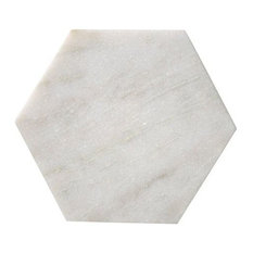 White Marble Hexagonal Tray or Cutting Board