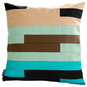 "Handmade Canvas Cushion Chic Decorative Pillow 18.9""x18.9"" Multicolor Stripes"