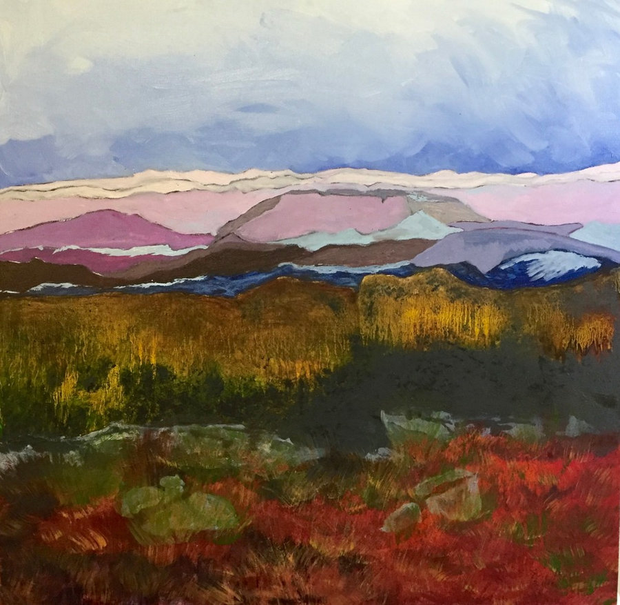 New Paintings - Landscapes in Oils-Woodstock Quarry View