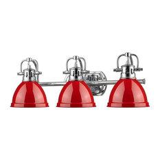 3-Light Bath Vanity, Red