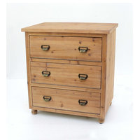 Minimalist LOFT Wooden Filing Cabinet with 3 Drawers
