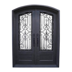 "Residence - Montreal Wrought Iron Door, Left Hand, 72""x96"" - Front Doors"