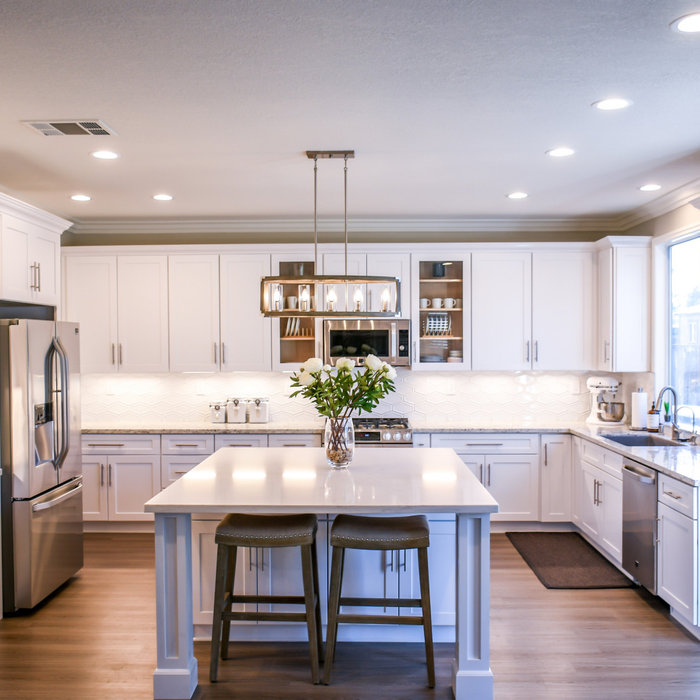 Kitchen is part of a total home remodel