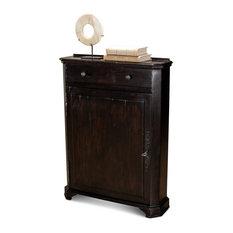 26-inch W Hallway Cabinet Ebony Finished Solid Acacia Wood Rustic Traditional