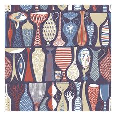 Pottery Red Folk Wallpaper, Bolt