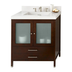 "Ronbow Essentials Juno 30"" Bathroom Vanity Cabinet Base, Dark Cherry"