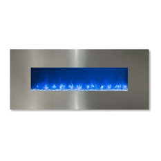 """Modern Flames CLx-2 Series Electric Fireplace, Stainless Steel Front, 80"""""""