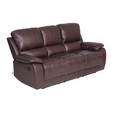 Vh Furniture Clic Leather Sofa Set Recliner Chair With Overstuff Armrest Headrest 3