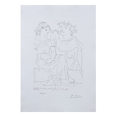 Flute Payer and Girl With Tambourine, Lithograph, Pablo Picasso-Vollard
