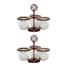 Pomeroy Traditional Savanna Set Of 2 Triple Server With Clear Finish 615245/S2
