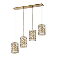 4-Light Chandelier With Champagne Finish