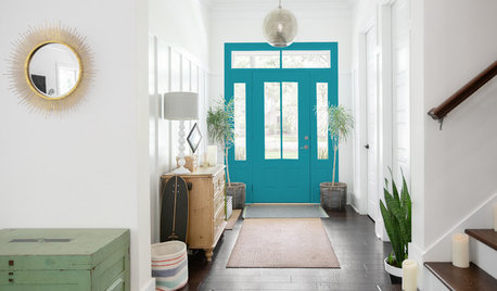 Choosing Color: 5 Fun Options for 1 Sunny Entryway