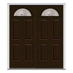 """Heirloom Master 1/4 Lite 4-Panel Fiberglass Double Door 66""""x81.75"""" RH In-Swing"""