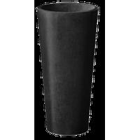 Kobo Tall Round Planter, Black