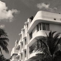 Miami Beach Art Deco Buildings Miami Florida Fine Art Black & White Photography,