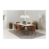 Nagane Extending Table And Nori Chairs, 6 Chairs