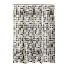 Mosaic Polyester Waterproof Shower Curtain Bathroom Curtain Bathroom Decor
