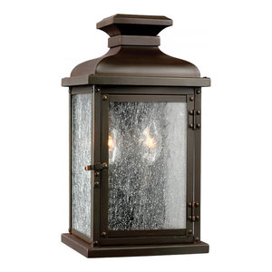 Dark Aged Copper Small Wall Lantern - 2 x 60W E14