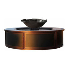 H2Onfire Series Fire and Water Insert with Enclosure, Black Bowl, Propane