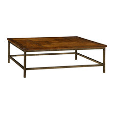 Jonathan Charles Fine Furniture   Jonathan Charles Country Walnut Square Coffee  Table 491014 CFW