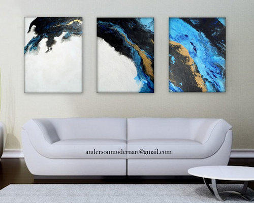 Original Painting Contemporary Triptych Artwork XXL Large Scale Wall Art Modern - Paintings & Original Painting Contemporary Triptych Artwork XXL Large Scale Wall ...