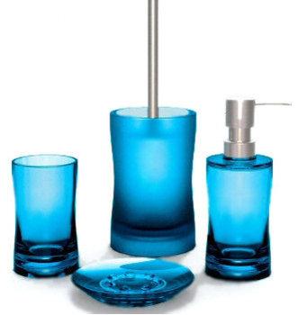 Bathroom Accessories Blue bathroom decor ideas - bath rugs, shower curtains and accessories