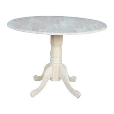 """International Concepts - 42""""  Dual Drop Leaf Table, Unfinished - Dining Tables"""
