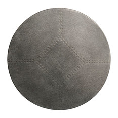"""Round Zinc Table Top, Silver, 30"""""""