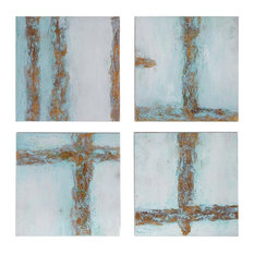 Uttermost Cross Roads Contemporary Art, Set of 4